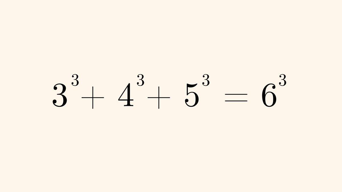 3 cubed plus 4 cubed plus 5 cubed